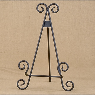 Tripar International Metal Table Scroll Easels, Black