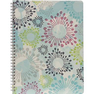 Hilroy Lovely Floral Glitter Notebook, 10-1/2