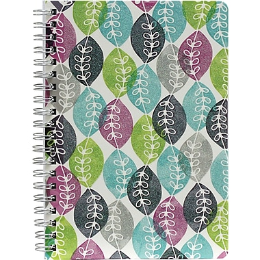 Hilroy Lovely Floral Glitter Notebook, 7