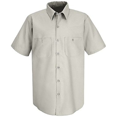 Red Kap Men's INDUSTRIAL WORK SHIRT SS x M, Silver grey