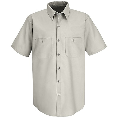 Red Kap Men's INDUSTRIAL WORK SHIRT SS x S, Silver grey