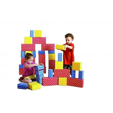 Edushape Corrugated Blocks, 52 Pieces