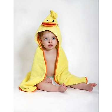 Zoocchini Baby Towel, Puddles the Duck