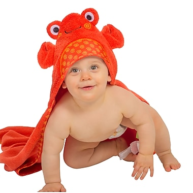Zoocchini Baby Towel, Charlie the Crab