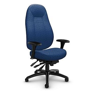 Global – Fauteuil ObusForme Comfort, dossier haut, à basculements multiples, « Oxygen-Royal », bleu