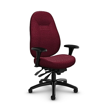 Global Obusforme Comfort Mid Back Multi Tilter, 'Oxygen-Cabernet' Fabric, Red