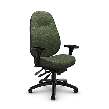 Global – Fauteuil ObusForme Comfort, dossier moyen, basculements multiples, « Oxygen-Lime », vert