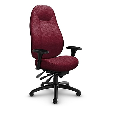 Global Obusforme Comfort 24 Hour High Back Multi Tilter, 'Oxygen-Cabernet' Fabric, Red