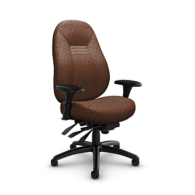 Global – Fauteuil ObusForme Comfort 24 heures, dossier mi-dos à basculements multiples, « Oxygen-Chestnut », brun