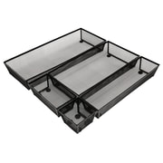 NeatLife Drawer Organizer Set, Black, 5-Piece Set