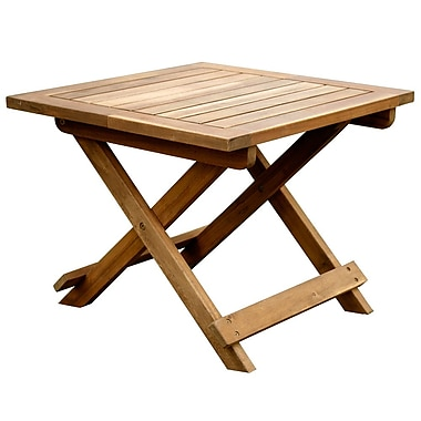 Cathay Importers Acacia Wood Square Folding Table, 20
