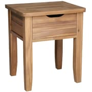 "Cathay Importers Acacia Wood Side Table, 19""W x 15.5""D x 22""H"