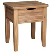 Cathay Importers – Table d'appui en bois d'acacia, 19 larg. x 15,5 prof. x 22 haut. (po)