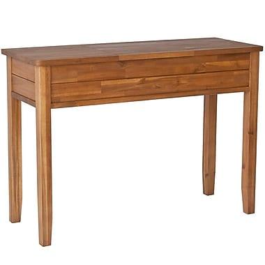 Cathay Importers – Table de toilette en bois d'acacia avec miroir, 44 larg. x 16,5 prof. x 32 haut. (po)