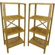 Cathay Importers – Tours de rangement en bambou à 4 tablettes, 23,5 larg. x 13 prof. x 51 haut. (po), ensemble de 2 pièces