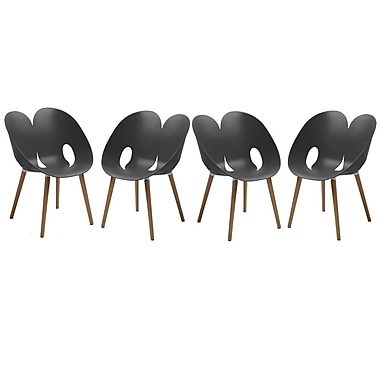 Cathay Importers Berenice Modern Chair, Grey, 4/Pack