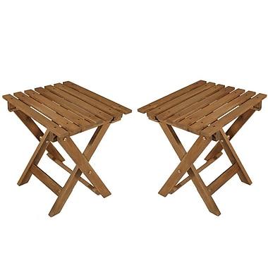 Gros tabouret pliable en bois d'acacia, 20 lar. x 14 prof. x 16,5 haut. (po), paq./2