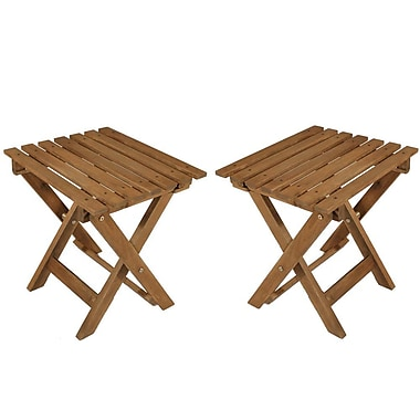 Cathay Importers Acacia Wood Big Foldable Stool, 20