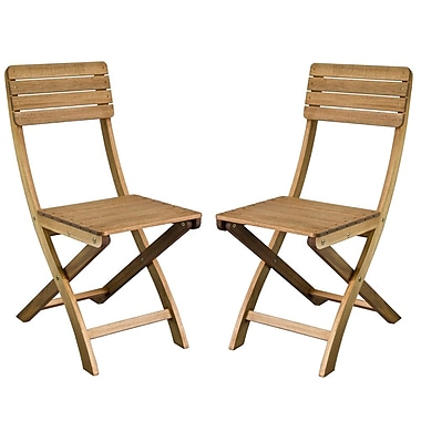 Cathay Importers Acacia Wood Foldable Chair, 15