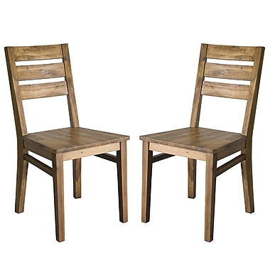 Cathay Importers Acacia Wood Seat Dining Side Chair, 17.5