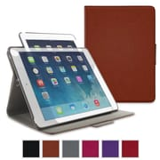 rOOCASE Orb Leather 360 Deg Rotating Folio Smart Case for iPad Air 2, Brown