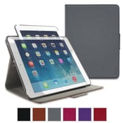 rooCASE Orb Leather 360 Degree Rotating Folio Smart Case for Use with iPad Air 2, Gray