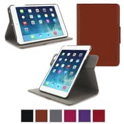 rOOCASE Orb Leather 360 Deg Rotating Dual-View Folio Smart Case Cover for iPad Mini with Retina Display, Brown