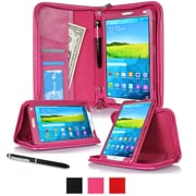 "rOOCASE Leather Executive Portfolio Smart Case for 8.4"" Samsung Galaxy Tab S, Magenta"
