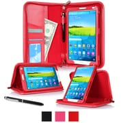 "rOOCASE Leather Executive Portfolio Smart Case for 8.4"" Samsung Galaxy Tab S, Red"