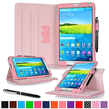rOOCASE Leather Dual-View Folio Smart Case Cover for 8.4