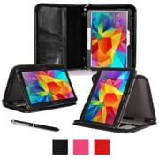 "rOOCASE Leather Executive Portfolio Smart Case for 10.1"" Samsung Galaxy Tab 4, Black"