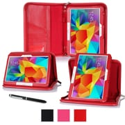 "rOOCASE Leather Executive Portfolio Smart Case for 10.1"" Samsung Galaxy Tab 4, Red"