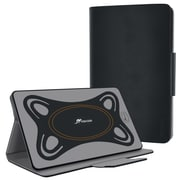 rOOCASE Orb Synthetic Leather Folio Smart Case with Stand for 7'' - 8.4'' Universal Tablet, Canvas Black