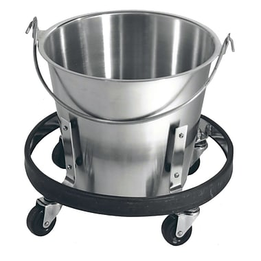 Brandt Kick Bucket and Frame, Stainless Steel, 13 qt. (36201)