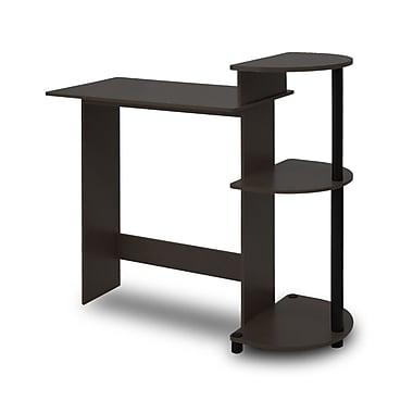 Furinno 39'' Rectangular Wood Transitional Computer Desk, Espresso/Black (11181EX/BK)