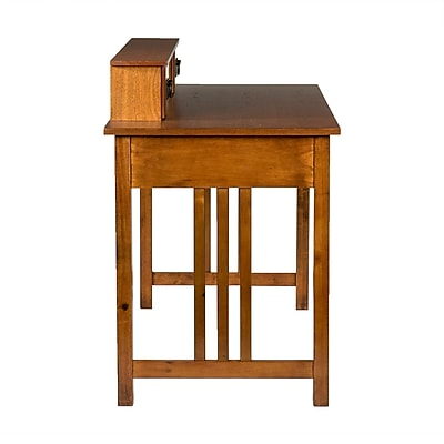 SEI Francisco Mission Computer/Laptop Writing Desk, Oak (HO9252R)