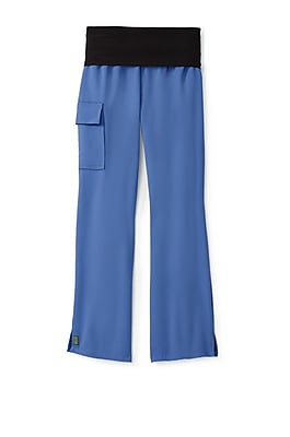 Medline Ocean ave Women 3XL Tall Yoga Scrub Pants, Ceil Blue (5560CBLXXXLT)