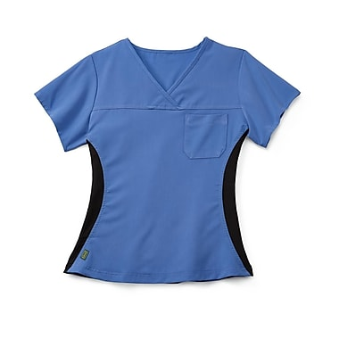 Medline Michigan ave Women 2XS Scrub Top, Ceil Blue (5564CBLXXS)