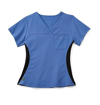 Medline Michigan ave Women Large Scrub Top, Ceil Blue (5564CBLL)