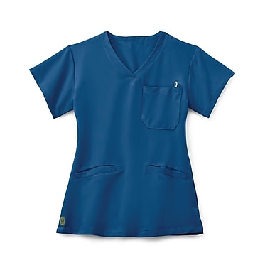 Medline Berkeley AVE. Women XL Scrub Top, Royal Blue (5582RYLXL)