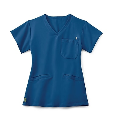 Medline Berkeley AVE. Women Large Scrub Top, Royal Blue (5582RYLL)