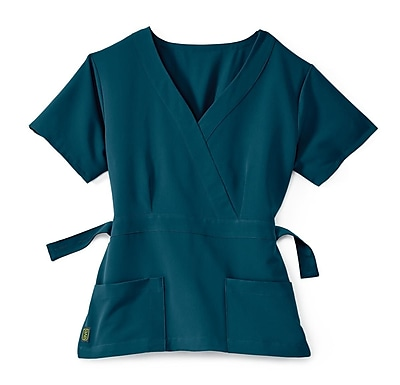 Medline Park ave Women Small Scrub Top, Caribbean Blue (5587CRBS)