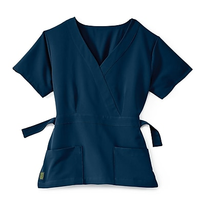 Medline Park ave Women Small Scrub Top, Navy (5587NVYS)