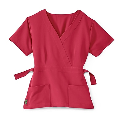 Medline Park ave Women Small Scrub Top, Pink (5587PNKS)
