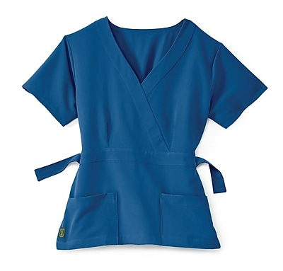 Medline Park ave Women Large Scrub Top, Royal Blue (5587RYLL)