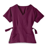 Medline Park ave Women Small Scrub Top, Wine (5587WNES)