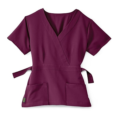 Medline Park ave Women 2XL Scrub Top, Wine (5587WNEXXL)