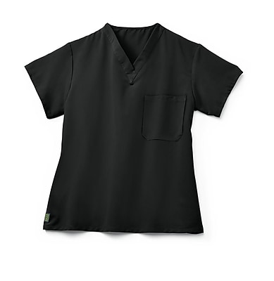 Medline Fifth ave Unisex Small Scrub Top, Black (5910BLKS)