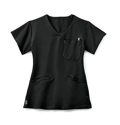 Medline Berkeley AVE. Women Medium Scrub Top, Black (5582BLKM)