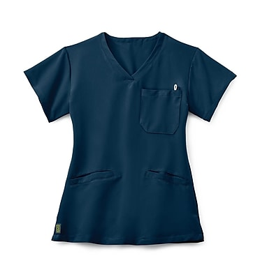 Medline Berkeley AVE. Women Large Scrub Top, Navy (5582NVYL)